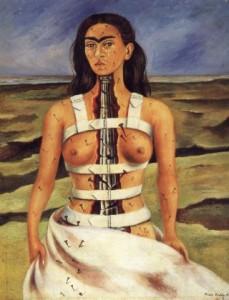 Autoportrait à la colonne brisée Frida Kahlo