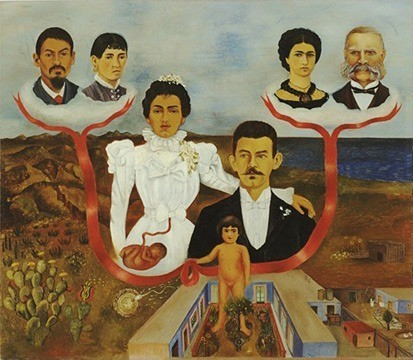 Mes grands parents, mes parents et moi Frida Kahlo 1936