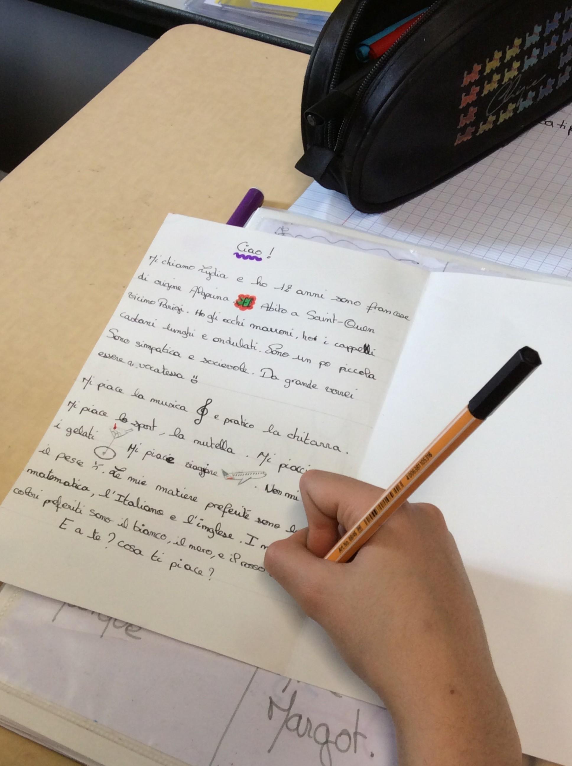lettre correspondants italien 1