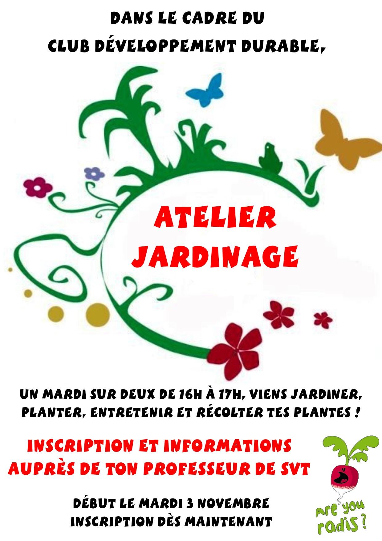 affiche jardinage jaurès
