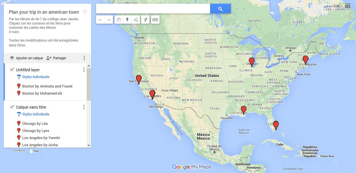 Cliquez sur l'image pour découvrir les voyages qu'ont planifiés les élèves.